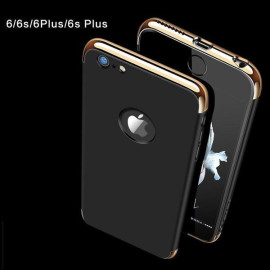 VAKU ® Apple iPhone 6 / 6S Clint Series Ultra-thin Metal Electroplating Splicing PC Back Cover