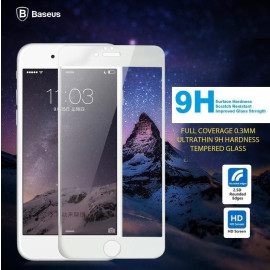 Baseus ® Apple iPhone 6 / 6S Full Coverage 0.3mm Ultrathin 9H Hardness Tempered Glass