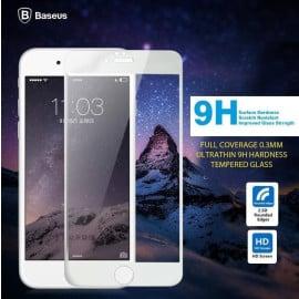 Baseus ® Apple iPhone 6 / 6S Full Coverage 0.3mm Ultrathin 9H Hardness Tempered Glass