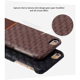 Kajsa ® Apple iPhone 6 / 6S Preppie Weave Leather Protective Case Back Cover