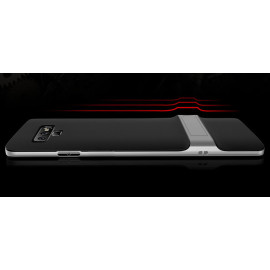 Vaku ® Samsug Galaxy Note 9 Royle Case Ultra-thin Dual Metal Soft + inbuilt stand soft/ Silicon Case