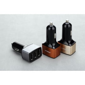 Rock ® Motor 5V/4.8A Triple USB Output Car Charger