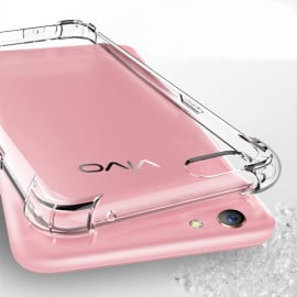 Vaku ® Vivo Y66 PureView Series Anti-Drop 4-Corner 360° Protection Full Transparent TPU Back Cover Transparent