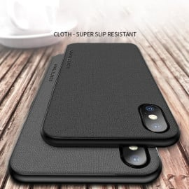 Vaku ® iPhone X / XS Italiana Series Hand-Stitched Rustic Textile Ultra Soft-Feel Shock-proof Water-proof Back Cover