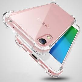 Vaku ® Vivo Y51L PureView Series Anti-Drop 4-Corner 360° Protection Full Transparent TPU Back Cover Transparent