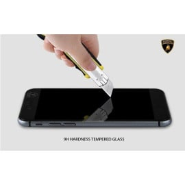 Lamborghini ® Apple iPhone 6 Plus / 6S Plus Official Full Coverage 0.3mm Ultra-thin 9H Hardness with Lamborghini Logo Tempered Glass