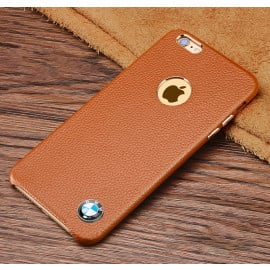 BMW ® Apple iPhone 6 / 6S LOGO Display Split Suede bronze chrome Leather case