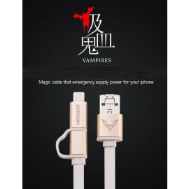 Joyroom ® Vampire 2 in 1 Innovative OTG + Android to iPhone Emergency Energy Transfer Charging / Data Cable