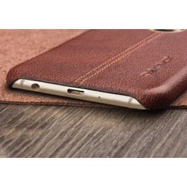 Vaku ® Samsung Galaxy J7 (2016) Lexza Series Double Stitch Leather Shell with Metallic Logo Display Back Cover