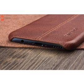 Vaku ® Oppo F3 Lexza Series Double Stitch Leather Shell with Metallic Camera Protection Back Cover