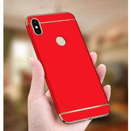Vaku ® Xiaomi Redmi Note 5 Pro Ling Series Ultra-thin Metal Electroplating Splicing PC Back Cover