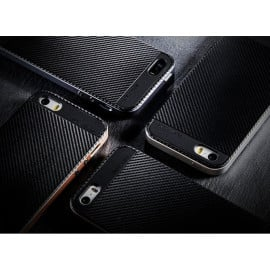 Joyroom ® Apple iPhone 5 / 5S / SE Hornet Series Ultra-Fit Durable Carbon Fiber Finish Silicon Coat Protective Case Back Cover