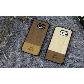 Kajsa ® Samsung Galaxy S6 Edge Outdoor Natural Wood Series Protective Case Back Cover