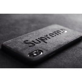 VAKU ® Apple iPhone X / XS Alcantara Supreme Logo Back Cover