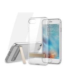 Rock ® Apple iPhone SE 2020 Ultra-Slim Jacket Transparent TPU Case with Inbuilt Kickstand Back Cover