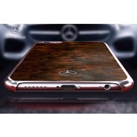 Mercedes Benz ® Apple iPhone 6 / 6S Vintage Natural Wood Chrome Edition