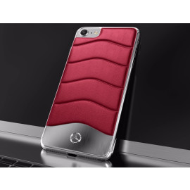 Mercedes Benz ® Apple iPhone 8 Concept S Coupe Series Electroplated Metal + Leather Hard Case Back Cover