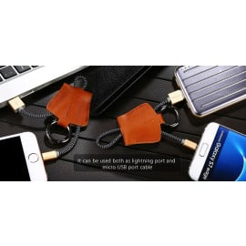 Joyroom ® Reversible 2 in 1 Apple Lightning port + Micro USB Charging / Data Cable + Key Chain