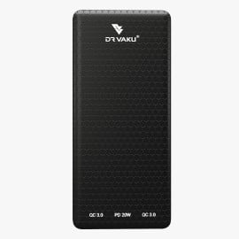 Dr. Vaku ® Carbon Series Magnus 10000 mAh Power Bank with 3A Fast Charging Dual USB QC 3.0 with Type-C 20W PD and Micro USB