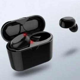 Vaku ® Wireless X1D HD-STEREO Bluetooth 5.0 Earphones with EDR + Noise Cancellation