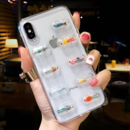 VAKU ® For Apple iPhone X / XS 3D Air Cushion Human Pills Case Back Cover