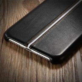 VAKU ® Apple iPhone 8 LEXZA 3rd Series Stitch Leather Shell Back Cover