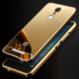 VAKU ®  Xiaomi Redmi Note 3 Mirror Full Protection Gold Electroplated Case