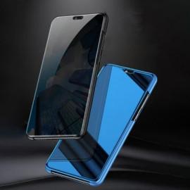 Vaku ® Samsung Galaxy M10 Mate Smart Awakening Mirror Folio Metal Electroplated PC Flip Cover