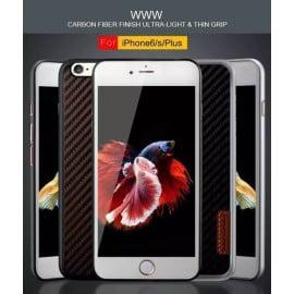 WUW ® Apple iPhone 6 / 6S K22 Carbon Fiber Finish Ultra-Light & Thin Grip Back Cover