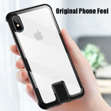 Vaku ® Apple iPhone X / XS Metal Slider Toughened Glass finish case