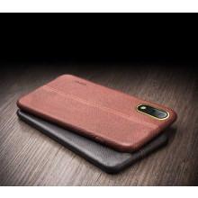 Vaku ® Vivo X21 Lexza Series Double Stitch Leather Shell with Metallic Camera Protection Back Cover