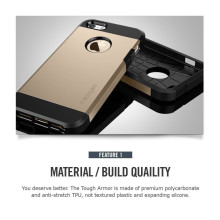 Spigen ® Apple iPhone 5 / 5S / SE TOUGH Armor Case Back Cover