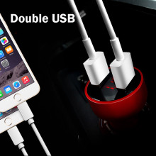 Ferrari ® 5V / 4.8 A Dual USB Output car charger- Black