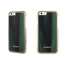 Bushbuck ® Apple iPhone 6 / 6S Metallic Bumper Baronage Dual-Tone Leather Back Cover