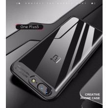 Vaku ® OnePlus 5T Kowloon Series Top Quality Soft Silicone 4 Frames + Ultra-Thin Transparent Back Cover