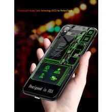 VAKU ® Apple iPhone X Futuristic LED Light X-RAY ILLUSION Phone Case