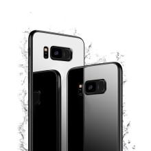 Vaku ® Samsung Galaxy S8 Plus Club Series Ultra-Shine Luxurious Tempered Finish Silicone Frame Thin Back Cover