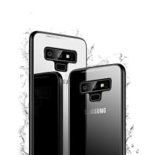 Vaku ® Samsung Galaxy Note 9 Club Series Ultra-Shine Luxurious Tempered Finish Silicone Frame Thin Back Cover