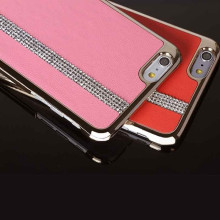 iSecret ® Apple iPhone 6 Plus / 6S Plus Luxury Swarovski Diamond Carpio Slim Leather + Gold Electroplating Back Cover