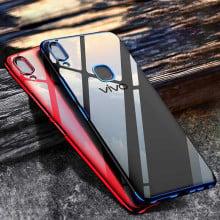 Vaku ® Vivo V9 CAUSEWAY Series Electroplated Shine Bumper Finish Full-View Display + Ultra-thin Transparent Back Cover