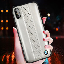 BMW ® iPhone XS MAX M2 COMPETITION freckled leather Back Case