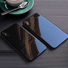 VAKU ® Apple iPhone X / XS Diamond Series Reflective 0.3mm 9H Hardness embedded tempered back with hexagonal pattern back cover