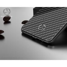 Mercedes Benz ® Samsung Galaxy S9 Plus Classy Carbon Fiber Raven leather Back Cover