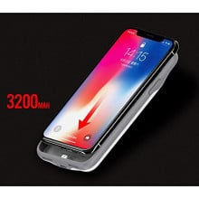 USAMS ® IPhone X Battery Case Top TPU Body With LED indicator High Power 3,200 Mah Wire-Less Battery Case