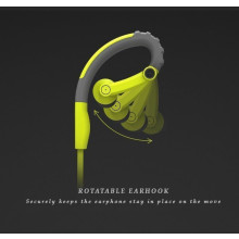 Rock ® Y6 Stereo Adjustable Sports Earphone with OFC Cable + Gold Plated Jack + Microphone Earphone