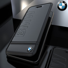 BMW ® Apple iPhone 8 Flip Official Racing Leather Case Limited Edition Flip Cover