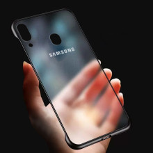 VAKU ® Samsung Galaxy A30 Frameless Semi Transparent Cover