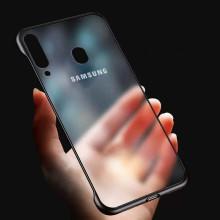 VAKU ® Samsung Galaxy M30 Frameless Semi Transparent Cover