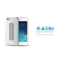Aliki ® Apple iPhone 6 / 6S Moko Series Aircraft Grade Aluminium Metal Case with Press Button Stand Back Cover