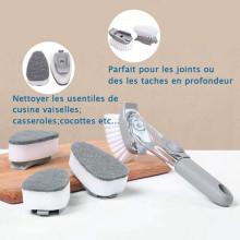 Eller Sante ® Multipurpose Brush Dish / Kitchen / Sink Cleaning Brush with Liquid Soap Dispenser